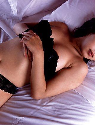 Bunko Kanazawa lovely Asian  enjoys her job