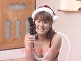 Adorable beauty Tsumiki Shindo sucking a huge dong