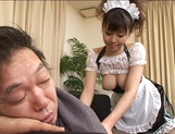 Ai Takeuchi naughty Asian maid in cosplay sex session