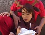 Sweet oral cosplay along young Karen Ichinose