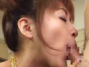 Amazing blowjob cosplay session with Karen Ichinose