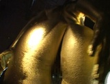 Covered in gold Asian bimbo fucked until exhaustion picture 12