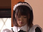 Gorgeous Asian maids pleasing the master with sex