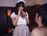 Hot teen in a costume of a maid  Arisa Misato licks cock and gets screwed picture 11