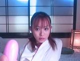 Amateur hottie Moe Shinohara enjoys warm finger fucking on cam