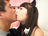 Round-bottomed chick Shiraishi Mio bendsover for a nice taco slamming picture 14