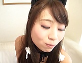 Round-bottomed chick Shiraishi Mio bendsover for a nice taco slamming