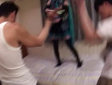 Horny Asian girl arranges a cosplay sex action gets banged by a group of guys picture 13