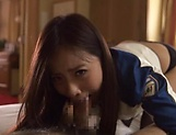 Smooth cosplay action with a sexy Japanese AV Model picture 15