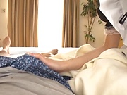 Stunning Japanese cosplay orgy with hot amateur maids