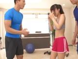 Sporty teen Shunka Ayami gets her big tits and ass licked