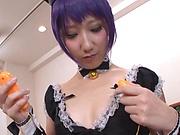 Lush Nishiyama Itsuki gets her pussy stretched