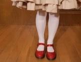 Stunning Asian sex doll Satomi Nagase sucks and bounces on cock on pov