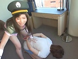 Azumi Chino Asian babe is hot when dominating her guy