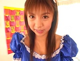 Nice Asian babe with a big ass, Mai Hagiwara gives head during cosplay picture 14