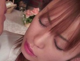 Sexy Japanese maid Moe Shinohara gets fucked on the table picture 15