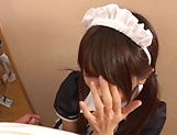 Impressive gangbang show with horny Japanese maids picture 15