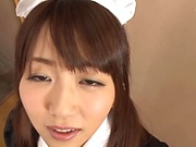 Impressive gangbang show with horny Japanese maids