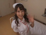 Adorable nurse in sexy stockings Shunka Ayami gives a blowjob picture 2