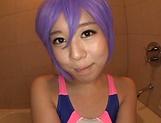 Tsukada Shiori, Asian babe in hot cosplay bathroom sex
