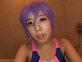 Superb POV oral along busty Tsukada Shiori