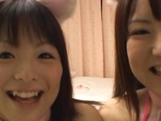 Sizzling Sayaka moans when nailed hard