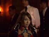 Busty Japanese AV model enjoys cock in her shaved milf twat
