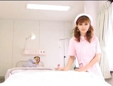 Lustful Asian nurse giving sensual head picture 15