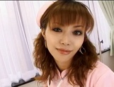 Lustful Asian nurse giving sensual head
