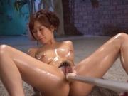 Superb Minami Kojima recives toys down her tight pussy