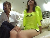 Risa Arisawa, Asian race queen gets milf pussy pounded