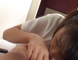 Young fresh Japanese teen gives a perfect cock sucking on pov picture 50