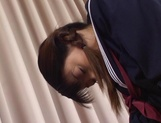 Horny schoolgirl, Sayaka Tsutsumi rubs her Asian pussy and gets banged picture 15