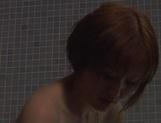 Peachy tits teen babe, Anna Kuramoto gets spyed while bathing picture 11