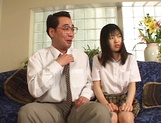 Young Japanese teen, Anna Kuramoto fucked by older guy picture 11