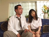 Young Japanese teen, Anna Kuramoto fucked by older guy picture 12
