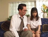 Young Japanese teen, Anna Kuramoto fucked by older guy picture 13