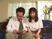 Young Japanese teen, Anna Kuramoto fucked by older guy