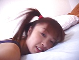 Curvy Asian teen, Hina Otosaki plays with her new pussy toys picture 12