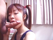 Hina Otosaki, jizzed on face after a wild Asian hardcore fuck