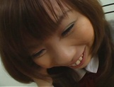 Naughty Asian teen, Misa Kurita is banged in doggy style picture 11