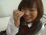 Naughty Asian teen, Misa Kurita is banged in doggy style picture 15