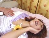 Gorgeous Japanese milf, Sakura Sena gets two guys in a threesome