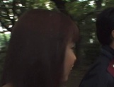 Naughty Asian babe, Minami Aikawa, in outdoor oral sex picture 11