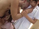 Three kinky Asian nurses seduce a handsome guy and fuck him hard