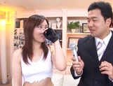 Sexy milf Maki Mizusawa gets licked and fucked by a brave guy picture 13