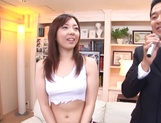 Sexy milf Maki Mizusawa gets licked and fucked by a brave guy picture 14
