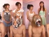 Sweet Japanese teen babes suck their boyfriends cocks