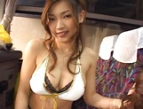 Guy gets to play with a bunch of Japanese AV models in a bus