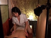 Gorgeous Asian masseur gets rammed and creamed